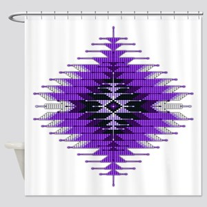 Native Style Purple Sunburst Shower Curtain
